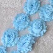 Лента розы голубые
