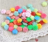 Розочки полимерные разноцветные