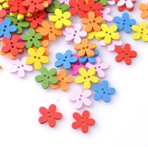 """Пуговицы  """"цветочки"""" разноцветные маленькие"""