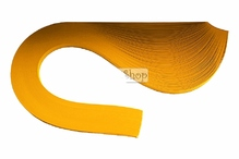 Бумага для квиллинга, 05 желто-золотистый, ширина 5 мм