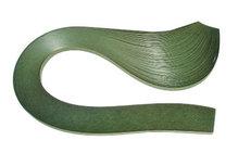 Бумага для квиллинга, оливковый, ширина 7 мм