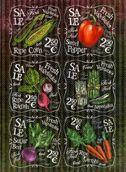 """Рисовая бумага для декупажа """"Свежие овощи"""", A3"""