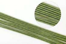 Стебли зеленые д/цветов — толстая тейпир-ая проволока 76 см х 3 мм.