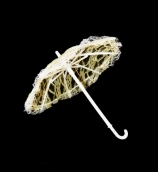 Зонт большой  26см гипюр цв.желтый
