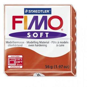 Пластика (в печке запекаемая масса) Fimo soft, индийский красный брус, 56 гр