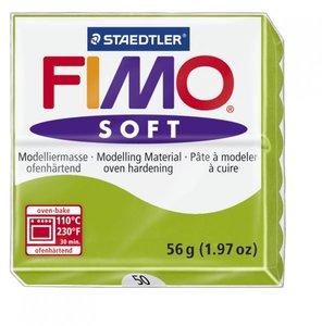 Пластика (в печке запекаемая масса) Fimo soft 56г, светло-зелёный брус