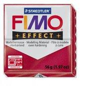 Полимерная глина, запекаемая в печке, FIMO Effect, рубин металлик, 56 гр