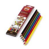 """Набор высококачественных акварельных  цветных карандашей """"Mondeluz"""" 6 цв."""