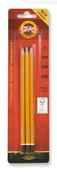 Набор профессиональных трехгранных чернографитных карандашей 3 шт (B,H,HB), блистер, европодвес