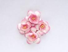 Цветы сакуры, набор 4 шт, диам 3,5 см, нежно-розовые