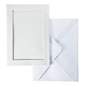 Открытка-паспарту, белый прямоугольник