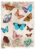 """Рисовая бумага для декупажа """"Мир бабочек"""", A3"""