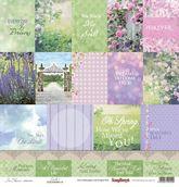 "Бумага односторон ""Цветущий Сад"" Карточки 1, 30,5х30,5 ENG"