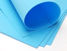 Фоамиран'Голубой фоамиран (Иран) 0,8-1мм, 60х70
