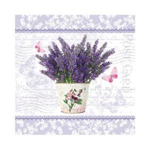 Салфетка бумажная 25*25 см (3 слоя) Flowering Lavender