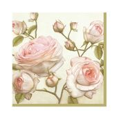 Салфетка бумажная 25*25 см (3 слоя) Beauty Roses
