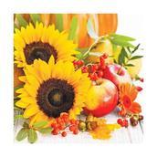 Салфетка бумажная 33*33 см (3 слоя) Autumn Composition