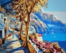 "Картина по номерам  ""Море и горы"" 40*50 см"