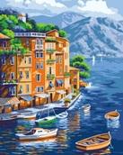 """Картина по номерам  """"Море и лодки"""" 40*50 см"""