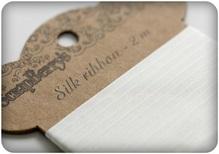 Лента шелк  белая 25мм,2м