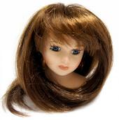 Волосы для кукол  П50 (прямые) цв.К, L16см, d7см