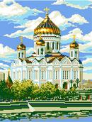 """АЛМАЗНАЯ ЖИВОПИСЬ """"Храм Христа Спасителя"""" 34x44 см"""