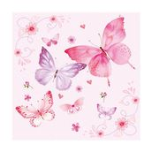 Салфетка бумажная 33*33 см (3 слоя) Gentle butterflies rosa