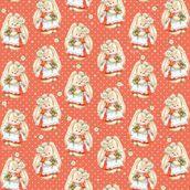 Упаковочная бумага ЗайкаМи Земляника в цвету, 674*974мм