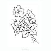 Штамп силиконовый Bouquet, упаковка 6х8 см