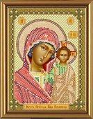 Вышивка бисером 'Богородица Казанская' 13x17 см