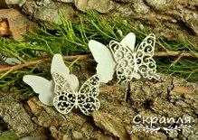 """Чипборд """"Бабочки 1"""", 3,3х3,8 см"""