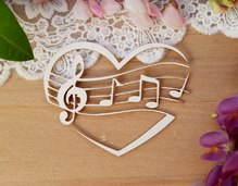 Музыкальное сердце, 7,8х6 см