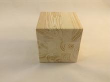 """Заготовка деревян. """"Кубик из сосны большой"""" (10*10*10 см)"""