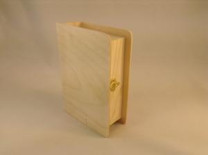 """Заготовка деревянн. """"Шкатулка-книга"""" 13 на 18 см, высота 5 см."""