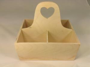 """Заготовка деревян. """"Коробочка для чайных пакетиков с ручкой"""" 15х20х8см"""