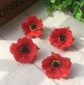 Цветы из ткани без стебелька