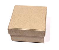 Заготовка  из папье-маше коробка КВАДРАТНАЯ 7*7*4см