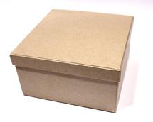Заготовка  из папье-маше коробка КВАДРАТНАЯ 13*13*7см