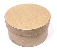 Заготовка  из папье-маше коробка КРУГЛАЯ 10*5см