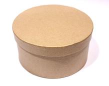 Заготовка из папье-маше коробка КРУГЛАЯ 12*6см