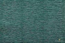 Бумага гофрированная  Италия, 50см х 2,5м 180г/м2 темно-оливковая