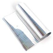 Трансферная поталь голографическая Серебро ромбики