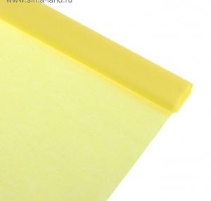 Бумага крепированная лимонная,  50*250см, в рулоне