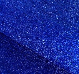 Бумага крепированная металлик синий 50 см х 2,5 м