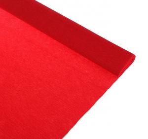 Бумага крепированная красная, 50*250см, в рулоне