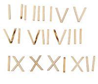 """Набор для творчества """"Римские цифры"""" (набор 26 деталей)  2 см"""