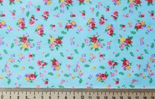 Ткань 50х40см голуб в мелк цветок