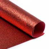 Фоамиран глиттерный 2 мм цв.красный, 20*30 cм