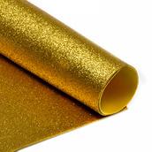 Фоамиран глиттерный 2 мм  цв.золото, 20*30 cм