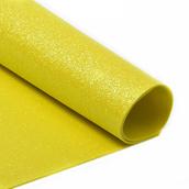 Фоамиран глиттерный 2 мм  цв.желтый, 20*30 cм